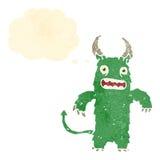 Retro cartoon hairy monster Royalty Free Stock Photography