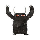 retro cartoon hairy monster royalty free illustration