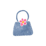 Retro cartoon handbag Royalty Free Stock Photography
