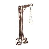 retro cartoon hangman's noose Royalty Free Stock Photography
