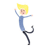 Retro cartoon happy blond boy Royalty Free Stock Photo