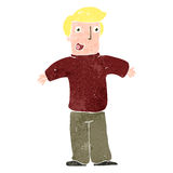 Retro cartoon happy blond man Royalty Free Stock Photography