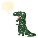 retro cartoon happy dinosaur Royalty Free Stock Image