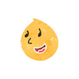 Retro cartoon happy face expression symbol Royalty Free Stock Image