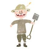 retro cartoon happy farmer Royalty Free Stock Photos