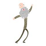 Retro cartoon happy old man Stock Image