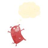 retro cartoon happy pig Royalty Free Stock Photo