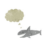 retro cartoon happy shark Royalty Free Stock Images