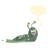 Retro cartoon happy slug Royalty Free Stock Images