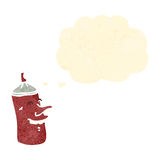 Retro cartoon happy spray can Royalty Free Stock Images
