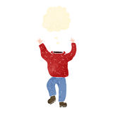 Retro cartoon headless man Royalty Free Stock Images