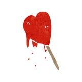 Retro cartoon heart shaped lolly Royalty Free Stock Photography