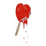 Retro cartoon heart shaped lolly Stock Images