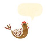 Retro cartoon hen Stock Photo