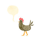 Retro cartoon hen clucking, Royalty Free Stock Photography