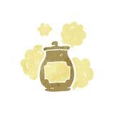 retro cartoon honey pot Royalty Free Stock Image