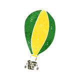 Retro cartoon hot air balloon Royalty Free Stock Images