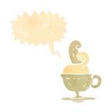 retro cartoon hot cup of coffee symbol Royalty Free Stock Photography