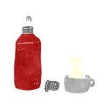 Retro cartoon hot drink Royalty Free Stock Images