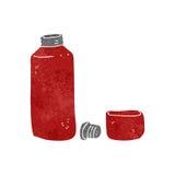 Retro cartoon hot drinks flask Stock Photography