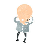Retro cartoon huge brain scientist Royalty Free Stock Photos