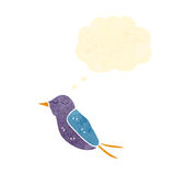 retro cartoon hummingbird with thought bubble Royalty Free Stock Images