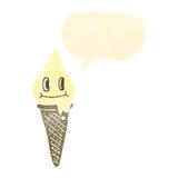 Retro cartoon ice cream cone character Royalty Free Stock Photo