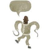 retro cartoon insane man in straight jacket Royalty Free Stock Image