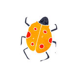 retro cartoon insect vector illustration