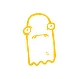 Retro cartoon invisible ghost Royalty Free Stock Image