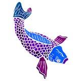 Retro cartoon japanese fish Royalty Free Stock Photography