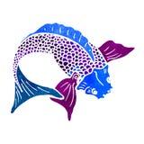retro cartoon japanese fish Stock Photos