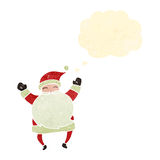 Retro cartoon jolly santa claus Royalty Free Stock Images