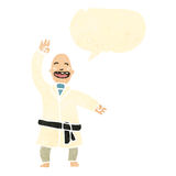 Retro cartoon karate expert Royalty Free Stock Photography