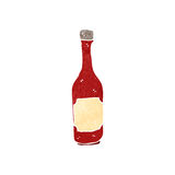 retro cartoon ketchup bottle Stock Image