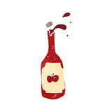 retro cartoon ketchup bottle Royalty Free Stock Photos