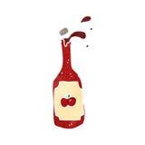 retro cartoon ketchup bottle Royalty Free Stock Photos