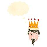 retro cartoon kings head Royalty Free Stock Images