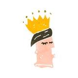 retro cartoon kings head Royalty Free Stock Image