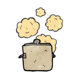 Retro cartoon kitchen cooking pot Royalty Free Stock Images