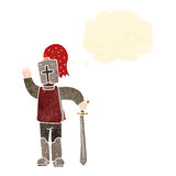 Retro cartoon knight Royalty Free Stock Photo
