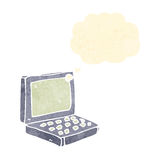 Retro cartoon laptop computer Royalty Free Stock Images