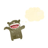 Retro cartoon laughing little bear Royalty Free Stock Photography
