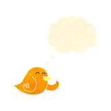 Retro cartoon laughing little bird Royalty Free Stock Photos