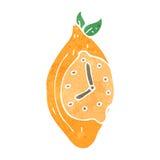 retro cartoon lemon clock Royalty Free Stock Photography