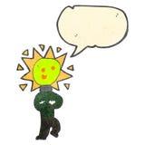 Retro cartoon light bulb head man Royalty Free Stock Images