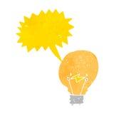 Retro cartoon light bulb idea symbol Royalty Free Stock Photo