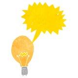 Retro cartoon light bulb idea symbol Royalty Free Stock Photography