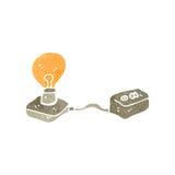 Retro cartoon light bulb Royalty Free Stock Images