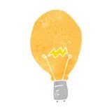 Retro cartoon light bulb Stock Photography